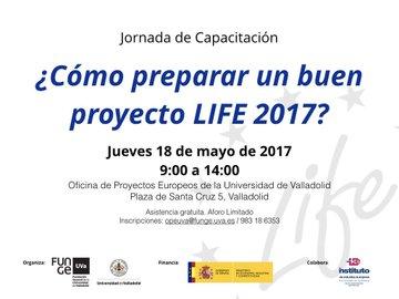 18/05/2017- Jornada de Capacitación sobre cómo preparar un buen proyecto Life.