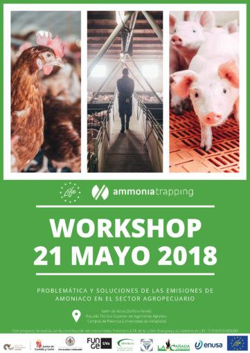 21/05/2018- Workshop internacional LIFE Ammonia Trapping: problemática y soluciones de las emisiones de amoniaco en el sector agropecuario.