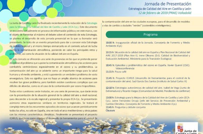 02/02/2019- JORNADA ESTRATEGIA DE LA CALIDAD DEL AIRE EN CASTILLA Y LEÓN
