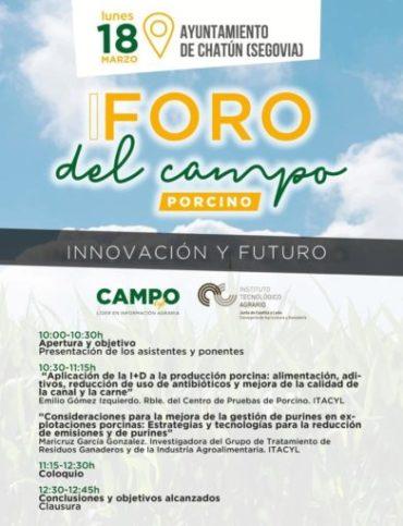 18/03/2019- I FORO DEL CAMPO (CHATÚN, SEGOVIA)